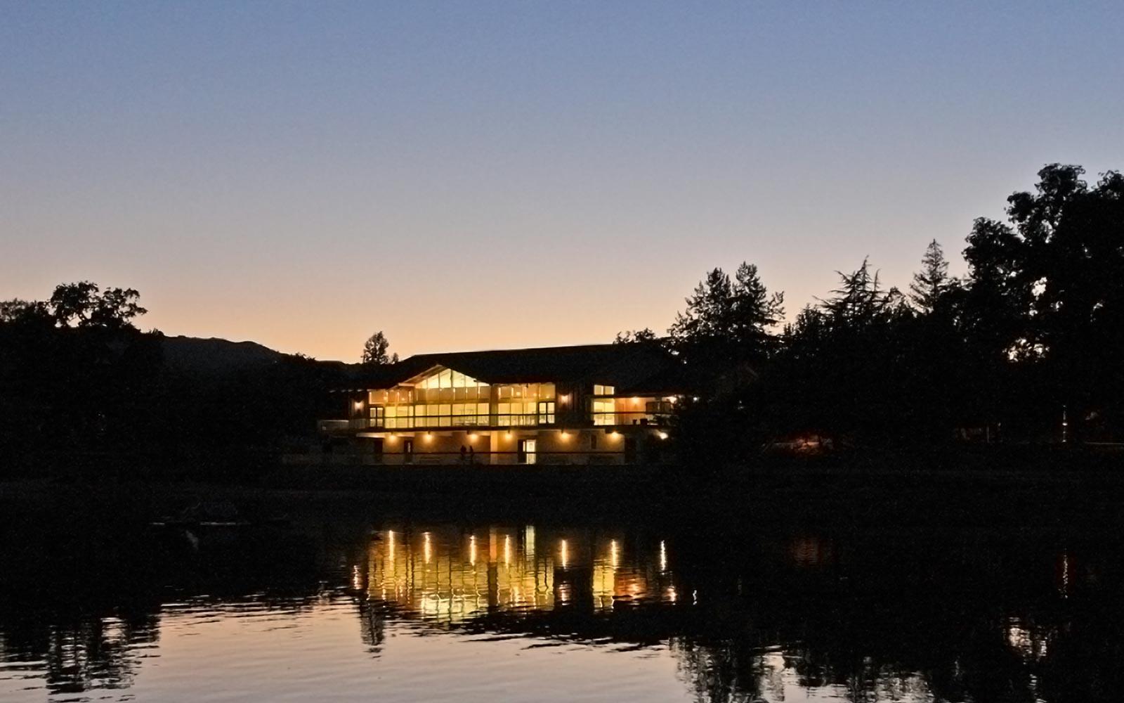 Atascadero Pavilion on the Lake at sunset featured img